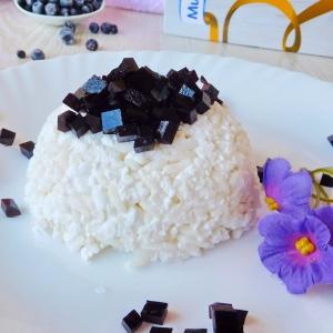 Рис - Рис с творогом и черничным мармеладом