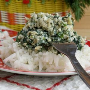 Рис - Рис с яйцом и весенней зеленью