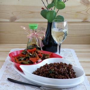 Рис - Рис со шпинатом и орехами