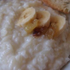 Банан - Рисовая каша с карамельным бананом