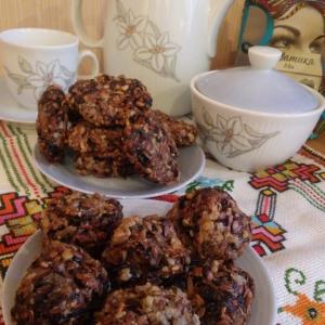 Чернослив - Рисово-зерновое печенье
