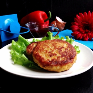 Горбуша - Рисовые котлеты с консервированной горбушей Домашние