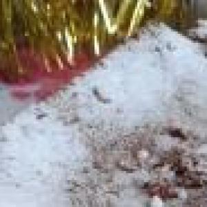 Рис - Рождественский безглютеновый кофейный бисквит
