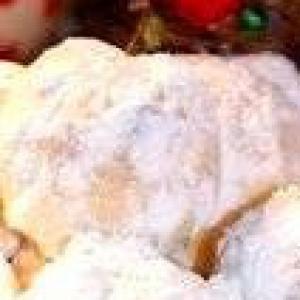Рецепты греческой кухни - Рождественское миндальное печенье Курабьедес