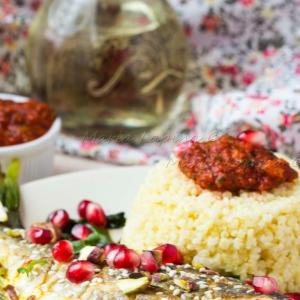Рецепты арабской кухни - Рыба по-мароккански с пшеном