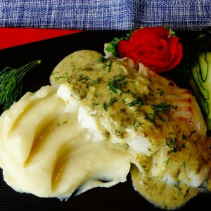 Щавель - Рыба под зелёным соусом