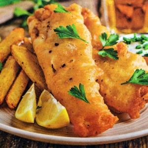 Рыба в тесте с грецкими орехами