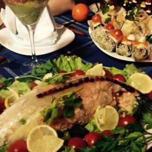 Брусника - Рыба заливная в форме