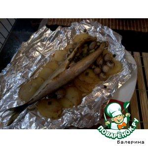 Скумбрия - Рыбка на овощной подушке