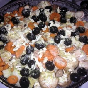 Рыба - Рыбка с грибами и овощами в духовке