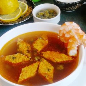 Каперсы - Рыбная похлебка с креветками