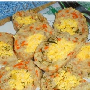 Морковь - Рыбно-рисовый рулет