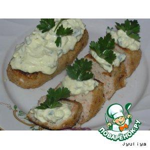 Горбуша - Рыбные палочки под молочно-сырным соусом