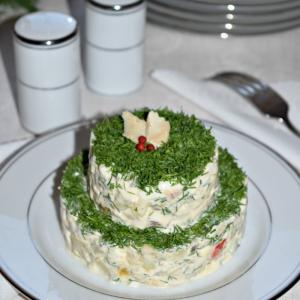 Салаты рыбные - Рыбный салат с запеченным перцем