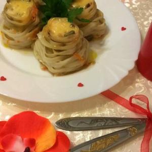 Апельсиновая корка сушеная (апельсиновая цедра) - Салангани с форелью и грибами