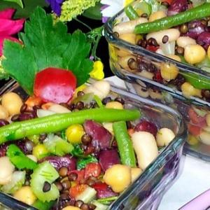Перец белый - Салат из бобовых