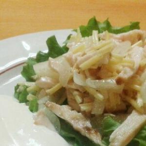 Дыня - Салат из копченой курицы с дыней
