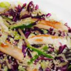 Капуста краснокочанная - Салат из краснокочанной капусты с курицей