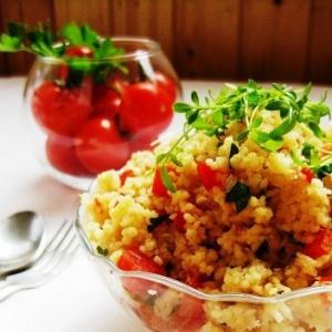 Тунец - Салат из кускуса с тунцом