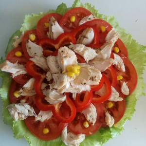 Салат - Салат из лосося Грейс