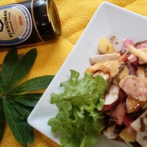 Салат - Салат из морской капусты с курицей и манго