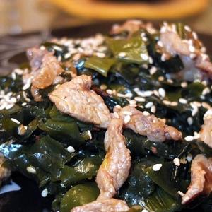 Мясо - Салат из морской капусты с мясом Меги Ча