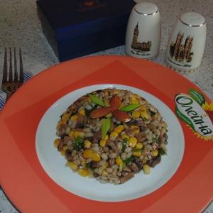 Кукуруза - Салат из перловки с горчичной заправкой