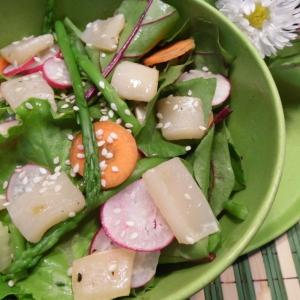 Редис - Салат из сезонных овощей с кальмарами