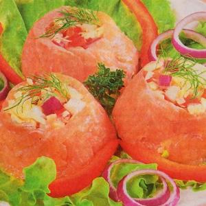 Салаты рыбные - Салат из соленой семги
