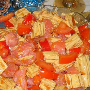 Спаржа - Салат из спаржи и форели