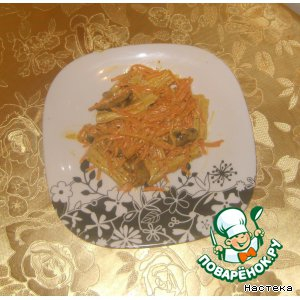 Спаржа - Салат из спаржи и грибов