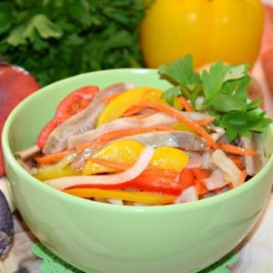 Морковь - Салат из сыроежек