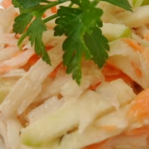 Вегетарианская кухня - Салат из топинамбура