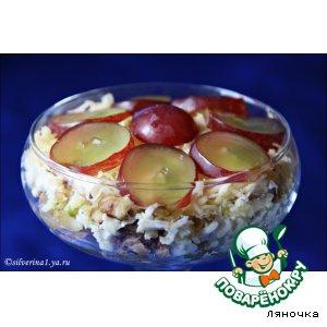 Тунец - Салат из тунца с орехами и виноградом
