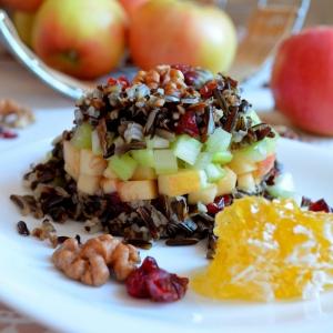 Клюква - Салат из яблочного дикого риса