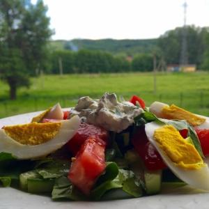 Шпинат - Салат Летний с потрясающим соусом