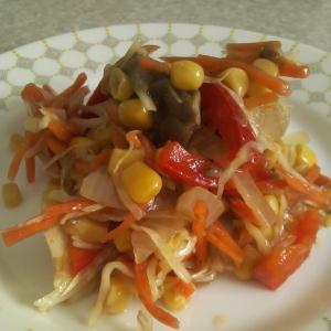 Кукуруза - Салат на скорую руку