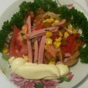 Колбаса - Салат на скорую руку