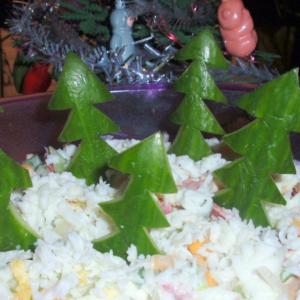 Кисло-молочные продукты - Салат новогодний