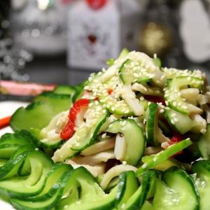 Рецепты азиатской кухни - Салат Новогодний Суномоно