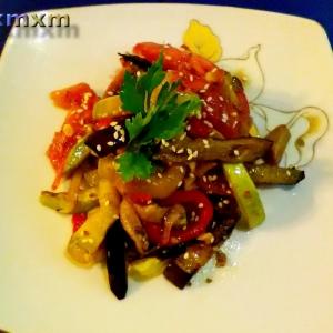 Кабачок - Салат овощной Быстрый и теплый