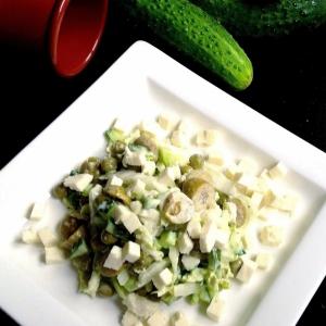 Оливки - Салат овощной с брынзой