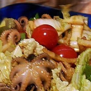 Осьминог - Салат простенький с осьминожками