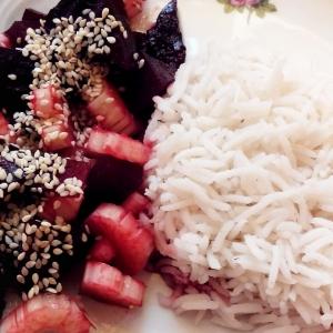 Кедровые орехи - Салат Розовый сельдерей к рису