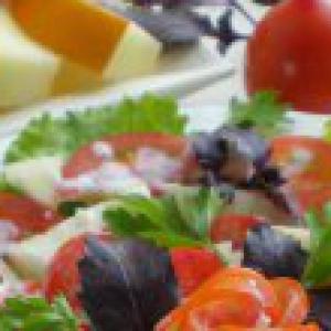 Дыня - Салат с дыней и помидором