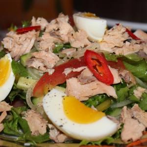 Горбуша - Салат с горбушей и овощами