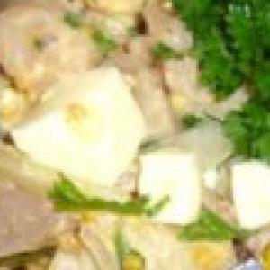 Скумбрия - Салат с копченой скумбрией