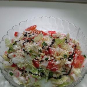 Рецепты японской кухни - Салат с крабовым мясом и пекинской капустой