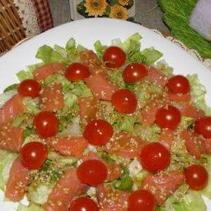 Салат Айсберг - Салат с красной рыбой Легкий