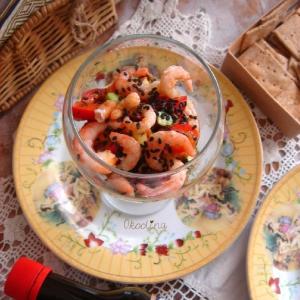 Лопух (репейник) - Салат с креветками
